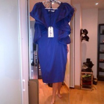 Lanvin for H M Dresses   Nwt Lanvin Purple Silk Ruffle Dress   Poshmark NWT LANVIN PURPLE SILK RUFFLE DRESS