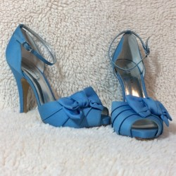 c67484692e38 78% Off Audrey Brooke Shoes Audrey Brooke Cornflower Blue Heels