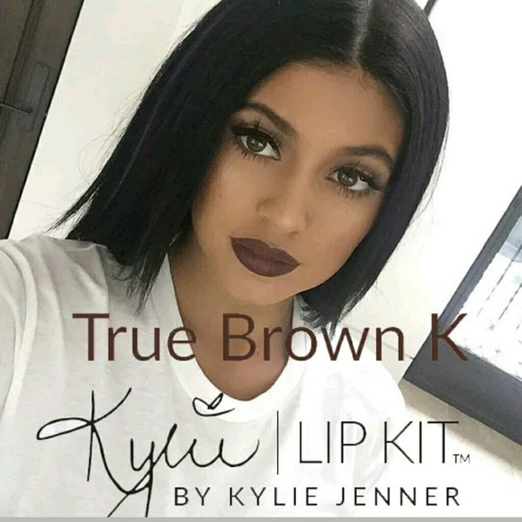 kylie lip kit lipstick gloss liner true brown make