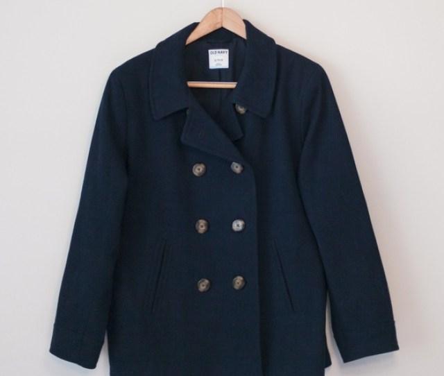 Sale  E2 86 9f E2 86 9f Old Navy Classic Wool Blend Peacoat