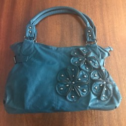 c1dd09bd1f1e 50% Off Rue 21 Handbags Teal Purse With Flower Detail From