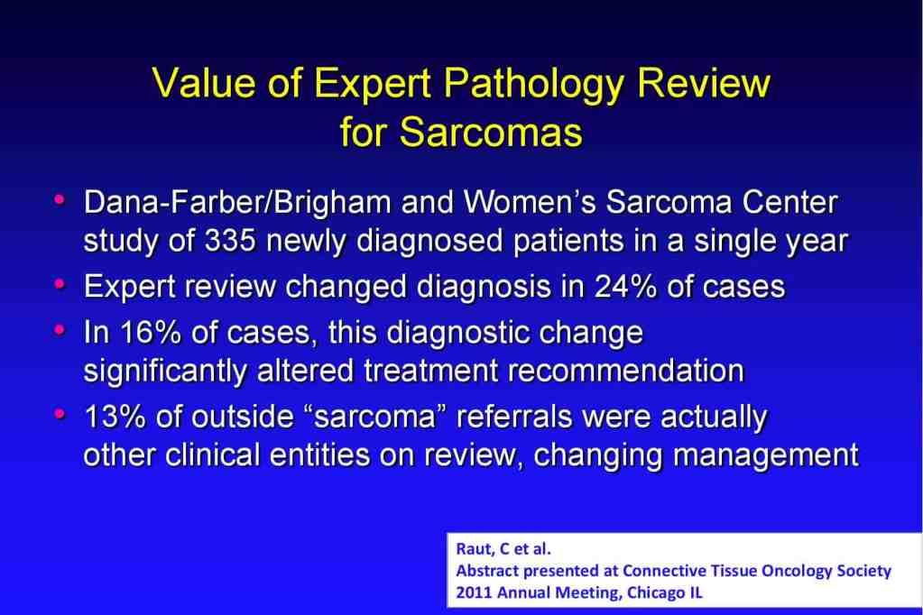 Sarcoma Center stats