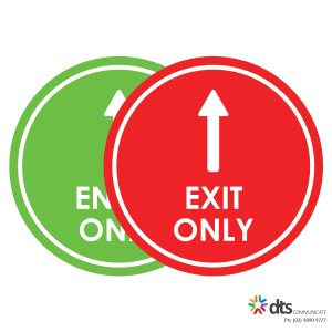 XLART DTS Covid19 Covid Floor Stickers Decals Social Distancing Sydney Melbourne Australia Entry Exit style 41