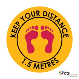 XLART DTS Covid19 Covid Floor Stickers Decals Social Distancing Sydney Melbourne Australia Keep Your Distance style 13