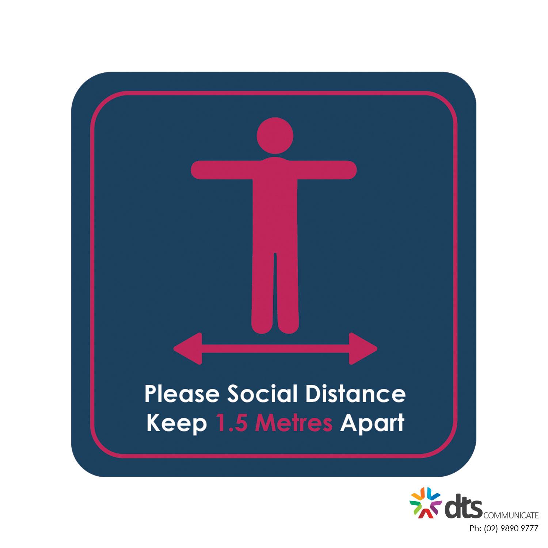 XLART DTS Covid19 Covid Floor Stickers Decals Social Distancing Sydney Melbourne Australia Please Social distance style 29