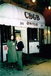 Julie at CBGB music venue