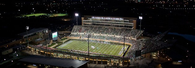 Apogee UNT opening football game editorial aerials