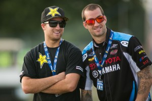 Davi Millsaps in his sponsorship uniform at a sporting event