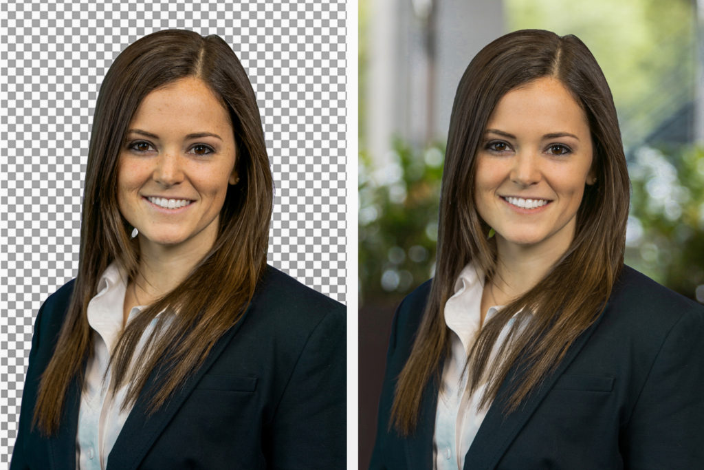 headshot photo editing before after