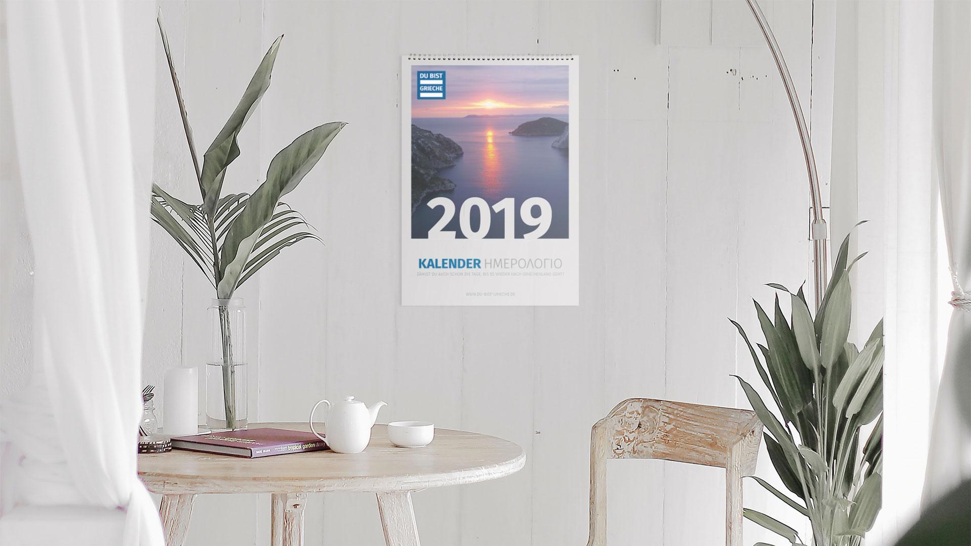 DU BIST GRIECHE Kalender 2019