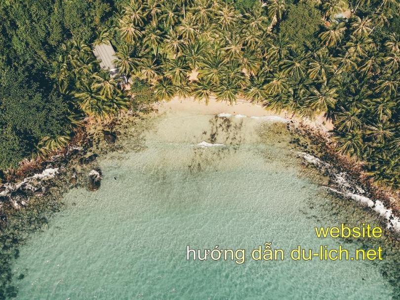 Hình ảnh đẹp như tiên cảnh của hòn Móng Tay ở khu du lịch Phú Quốc