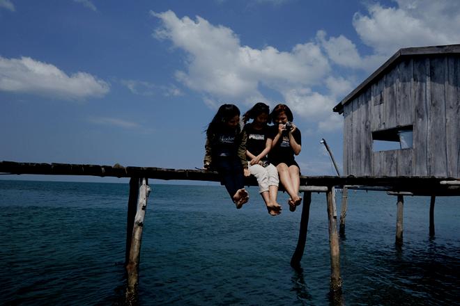 Hình ảnh du lịch làng chài Rạch Vẹm - check in cầu tàu gỗ