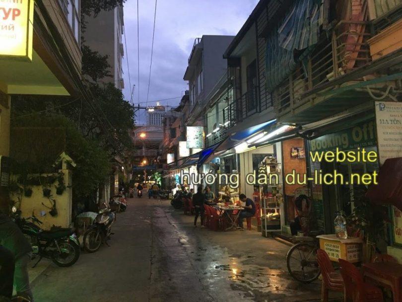 Review chi phí đi Nha Trang hết bao nhiêu tiền: con phố cụt Tôn Đản nơi mình ở