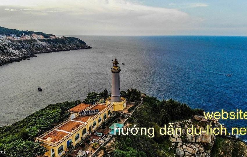 Hình ảnh Mũi Điện + ngọn hải đăng Đại Lãnh từ Flycam (góc 360 độ)