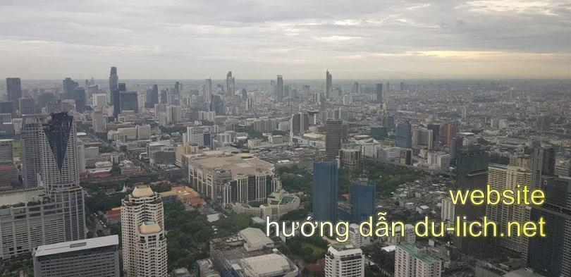 Một góc hình ảnh thủ đô Bangkok - Thái Lan từ Flycam