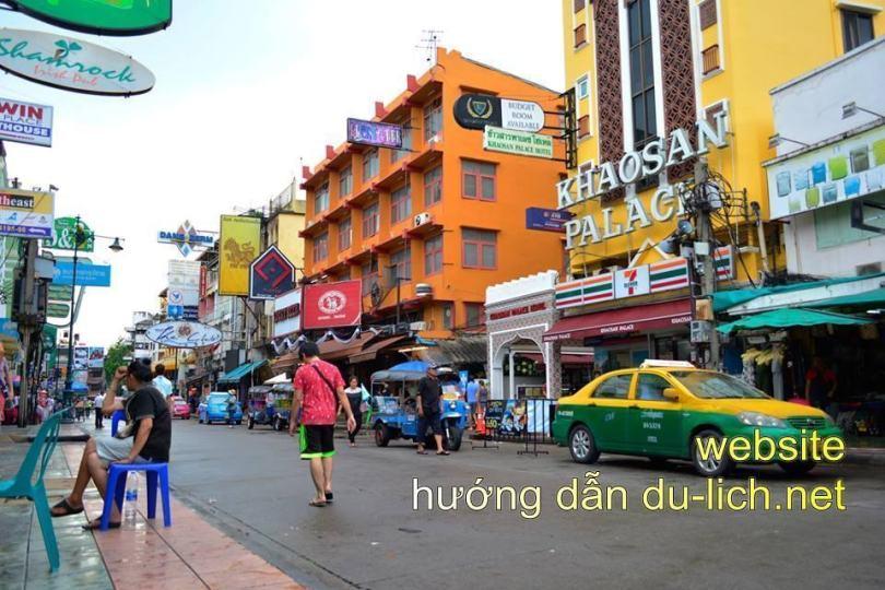 Taxi ở khu phố Khao San