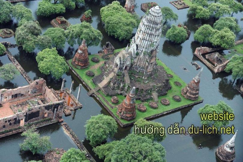 Chụp 1 góc của Ancient Siam City từ flycam