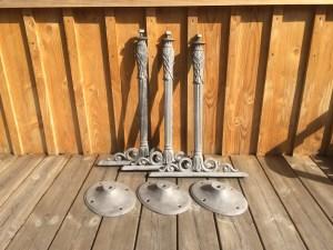 Pieds de table en fer forgé