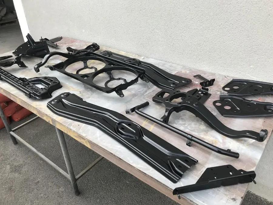 Sablage de pièces mécaniques Alfa Romeo 156 GTA
