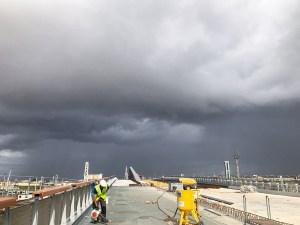 Sablage nouveau pont Amédée Saint-Germain