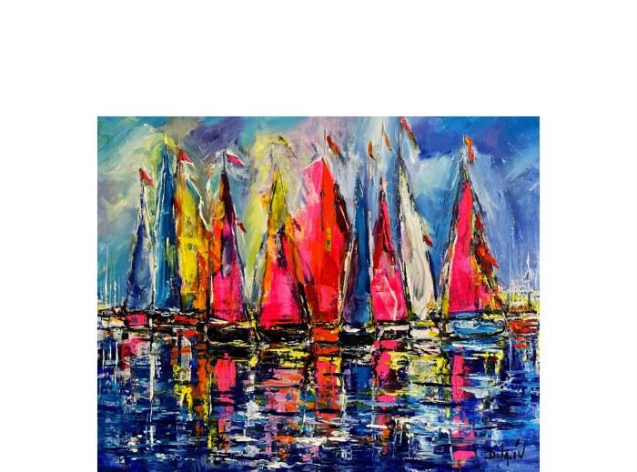 Sails of Colors 24'' x 30''
