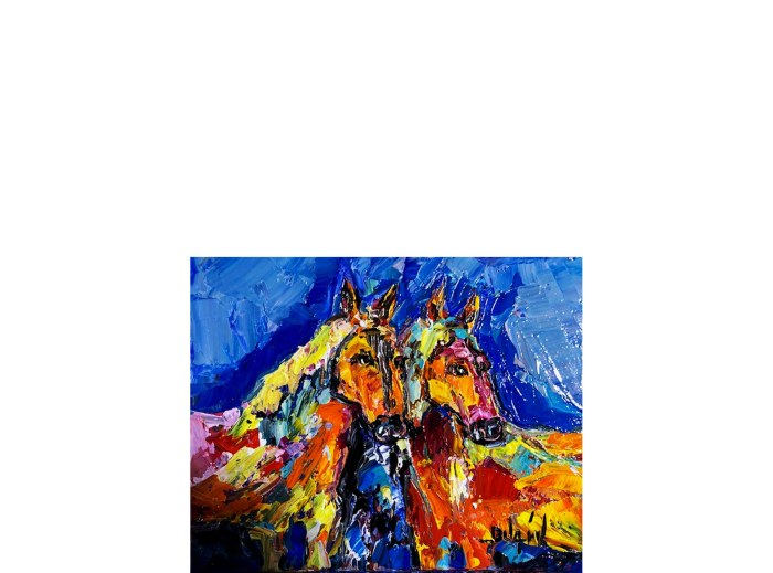 The 2 Horses 8'' x 10''