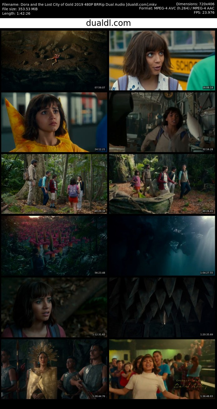 Dora and the Lost City of Gold 2019 480P BRRip Dual Audio