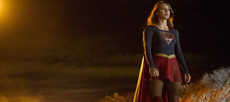 """""""Pilot"""" -- After 12 years of keeping her powers a secret on Earth, Kara Zor-El, (Melissa Benoist) Superman's cousin, decides to finally embrace her superhuman abilities and be the hero she was always meant to be, on the series premiere of SUPERGIRL, Monday, Oct. 26 (8:30-9:30 PM, ET/PT), on the CBS Television Network.  The series moves to its regular time period (8:00-9:00 PM) on Monday, Nov. 2.  Photo: Darren Michaels/CBS  ©2015 CBS Broadcasting, Inc. All Rights Reserved"""