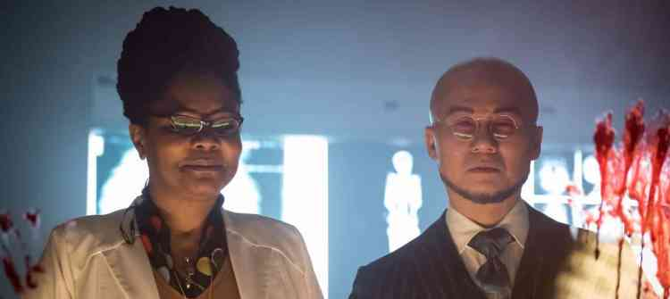 "GOTHAM: L-R:  Guest star Tonya Pinkins and BD Wong in the ""Wrath of the Villains: Azrael"" episode of GOTHAM airing Monday, April, 25 (8:00-9:01 PM ET/PT) on FOX. ©2016 Fox Broadcasting Co. Cr: Jeff Neumann/FOX"