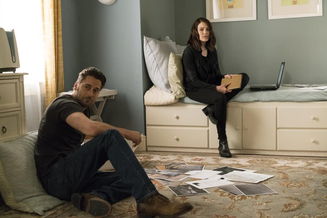 "THE BLACKLIST -- ""Miles McGrath #65"" Episode 403 -- Pictured: (l-r) Ryan Eggold as Tom Keen, Megan Boone as Elizabeth Keen -- (Photo By: David Giesbrecht/NBC)"