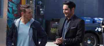 """LUCIFER: L-R: Kevin Alejandro and Tom Ellis in the """"My Little Monkey"""" episode of LUCIFER airing Monday, Nov. 7 (9:01-10:00 PM ET/PT) on FOX.   ©2016 Fox Broadcasting Co. Cr: Michael Courtney/FOX."""