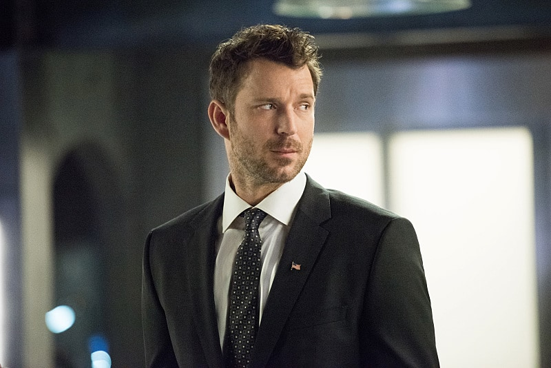 """Arrow -- """"Human Target"""" -- Image AR505a_0110.jpg -- Pictured: Wil Traval as Christopher Chance/Human Target -- Photo: Dean Buscher/The CW -- © 2016 The CW Network, LLC. All Rights Reserved."""