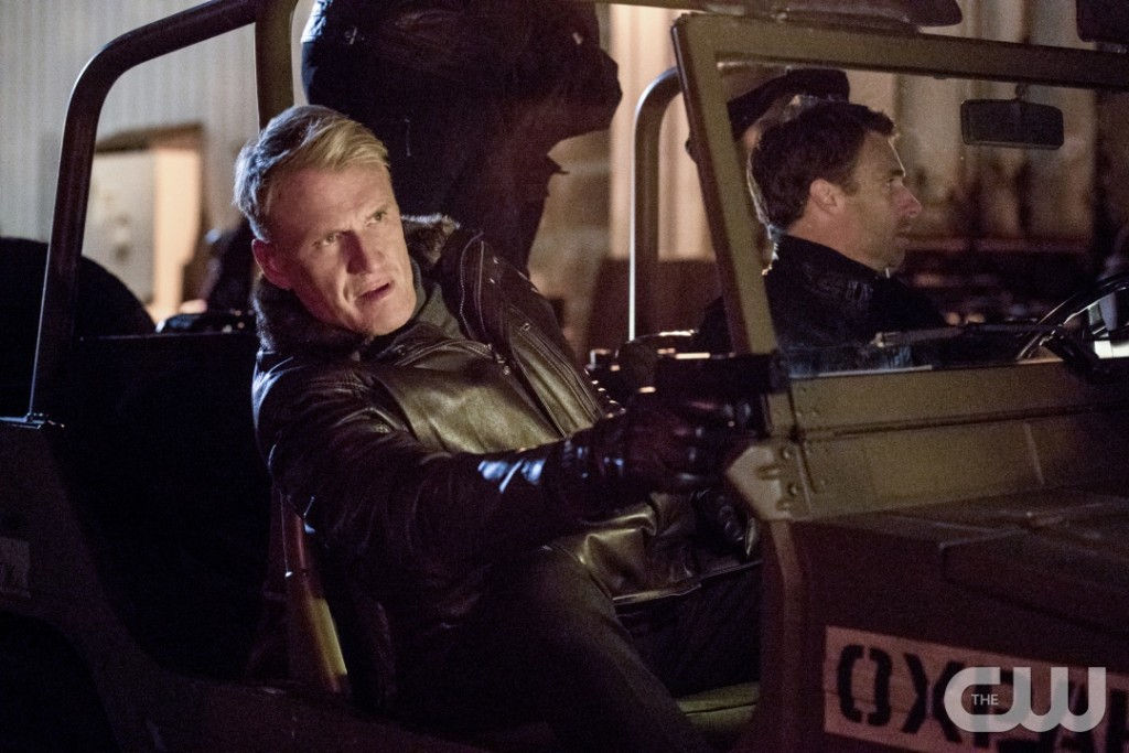 """Arrow -- """"Kapiushon"""" -- Image AR517a_0114b.jpg -- Pictured: Dolph Lundgren as Konstantin Kovar -- Photo: Jack Rowand/The CW -- © 2017 The CW Network, LLC. All Rights Reserved."""