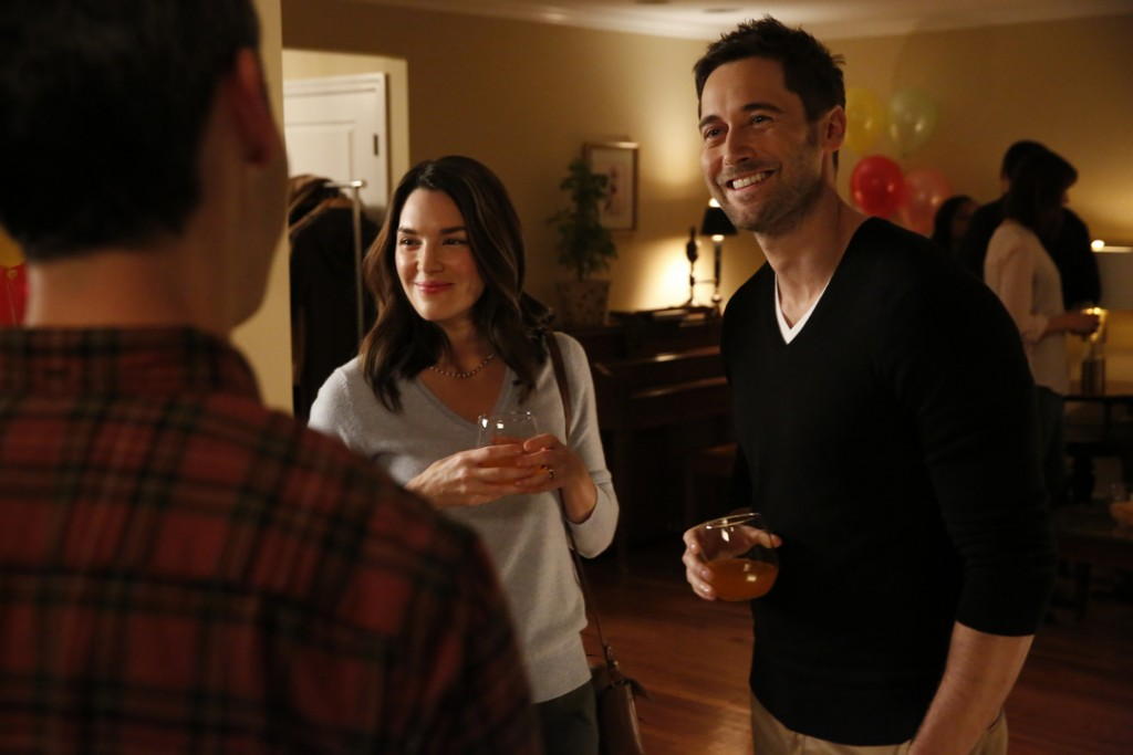 """THE BLACKLIST: REDEMPTION -- """"Independence, U.S.A."""" Episode 102 -- Pictured: (l-r) Kelli Barrett as Cynthia, Ryan Eggold as Tom Keen -- (Photo by: Will Hart/NBC)"""