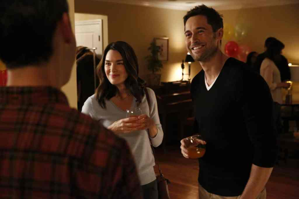 "THE BLACKLIST: REDEMPTION -- ""Independence, U.S.A."" Episode 102 -- Pictured: (l-r) Kelli Barrett as Cynthia, Ryan Eggold as Tom Keen -- (Photo by: Will Hart/NBC)"