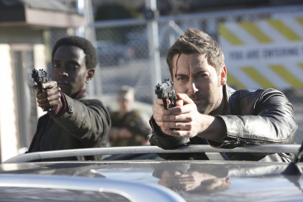 "THE BLACKLIST: REDEMPTION -- ""Kevin Jensen"" Episode 103 -- Pictured: (l-r) Edi Gathegi as Solomon, Ryan Eggold as Tom Keen -- (Photo by: Will Hart/NBC)"