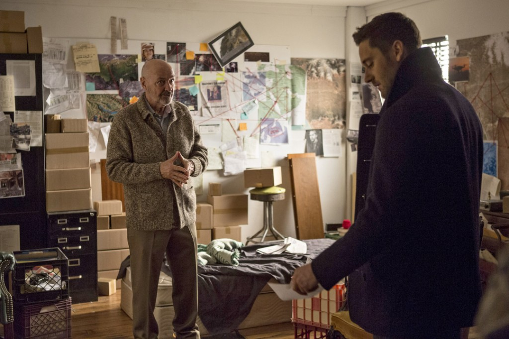 "THE BLACKLIST: REDEMPTION -- ""Borealis 301"" Episode 105 -- Pictured: (l-r) Terry O'Quinn as Howard Hargrave, Ryan Eggold as Tom Keen -- (Photo by: Eric Liebowitz/NBC)"