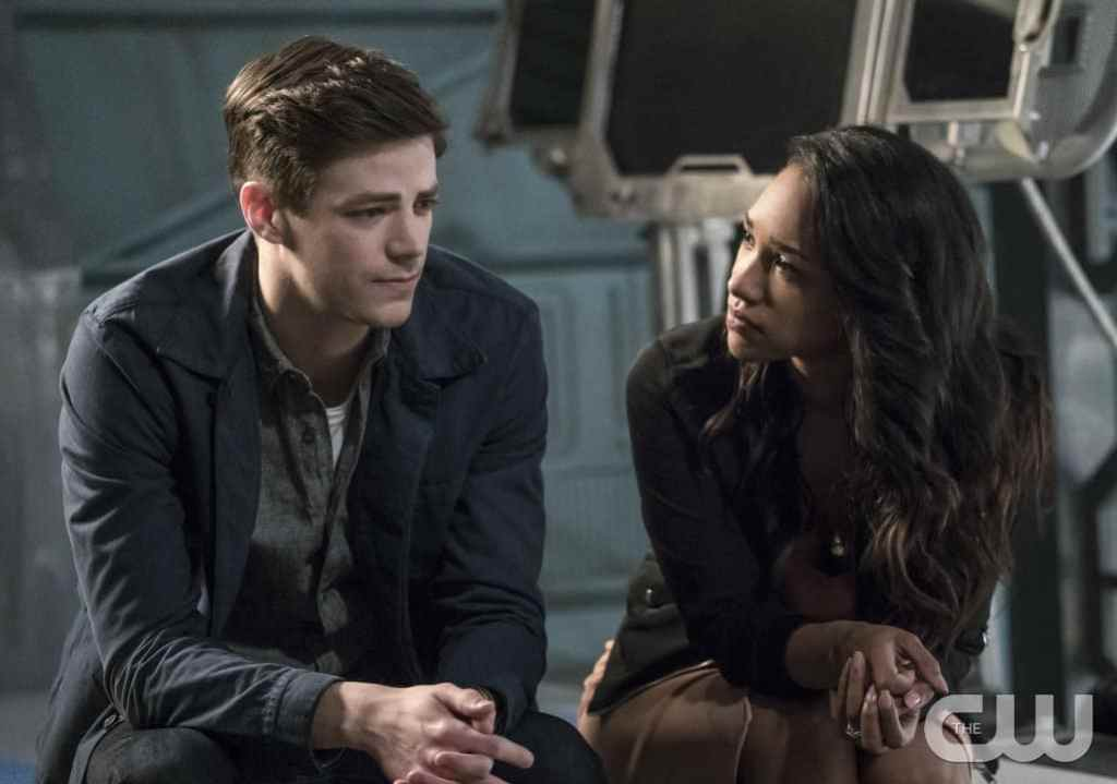 """The Flash -- """"Cause and Effect"""" -- FLA321b_0337b.jpg -- Pictured (L-R): Grant Gustin as Barry Allen and Candice Patton as Iris West -- Photo: Katie Yu/The CW -- © 2017 The CW Network, LLC. All rights reserved."""