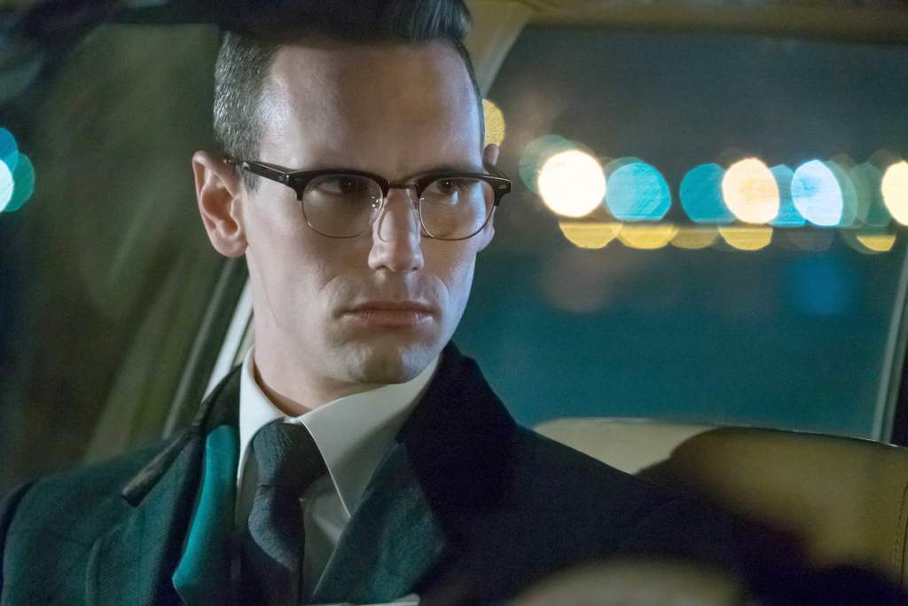 """GOTHAM: Cory Michael Smith in the """"Heroes Rise: The Primal Riddle"""" episode of GOTHAM airing Monday, May 8 (8:00-9:01 PM ET/PT) on FOX. Cr: Jeff NeumannFOX"""