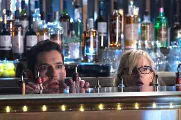 "LUCIFER: L-R: Tom Ellis and Rachael Harris in the ""God Johnson"" episode of LUCIFER airing Monday, May 15 (9:01-10:00 PM ET/PT) on FOX. Cr: Jack Rowand/FOX"