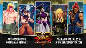 Nostalgia Costumes  with purchase of Arcade Edition.