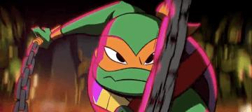 Michelangelo in Rise of the Teenage Mutant Ninja Turtles on Nickelodeon