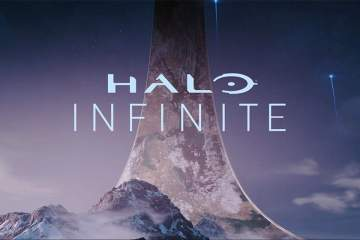 Screenshot of the main Halo Infinite title from E3 2018