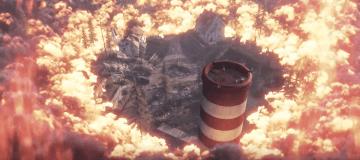 Screenshot from Battlfield V Gamescom trailer of their battle royale mode.