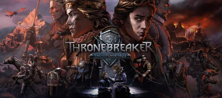 Thronebreaker: The Witcher Tales Throne and key players surrounding it.