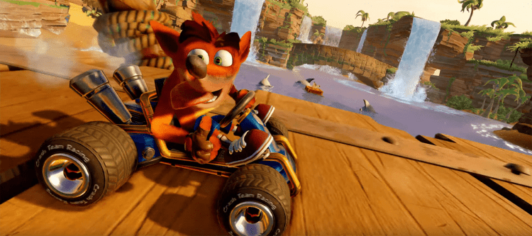Crash Team Racing reveal from The Game Awards