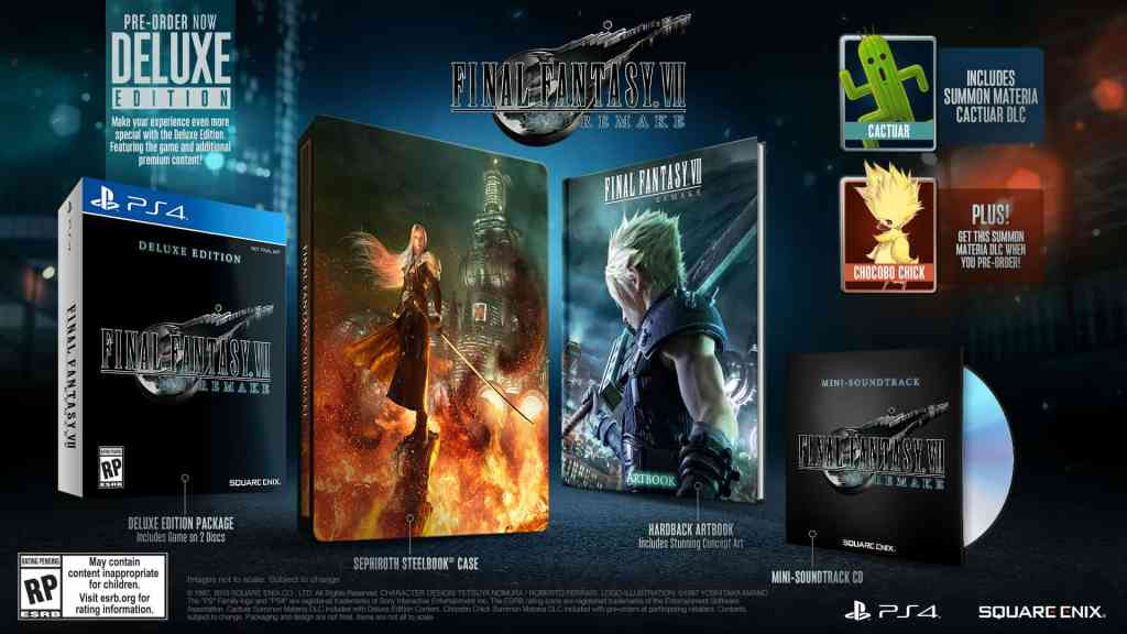 Final Fantasy VII Remake Deluxe Edition Contents