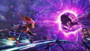 Ratchet & Clank: Rift Apart Ratchet going interdimensional.