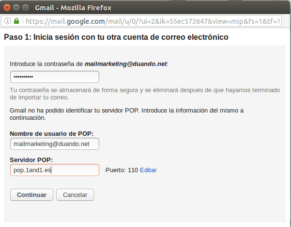 Configuracion gmail 6