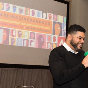 Duane presenting at the Reimagine Manhood Summit on December 14, 2017